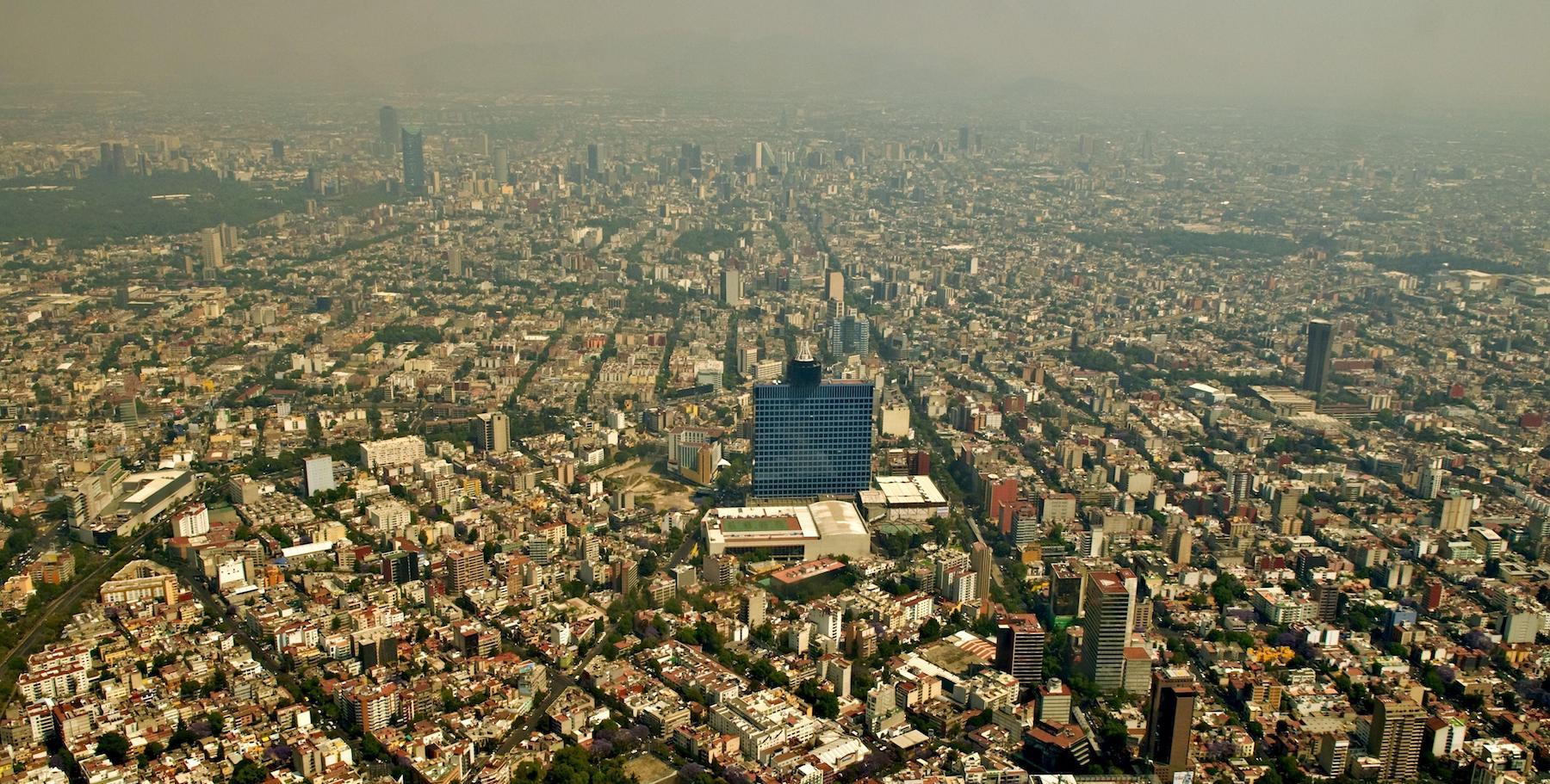 Mexico DF aerea view